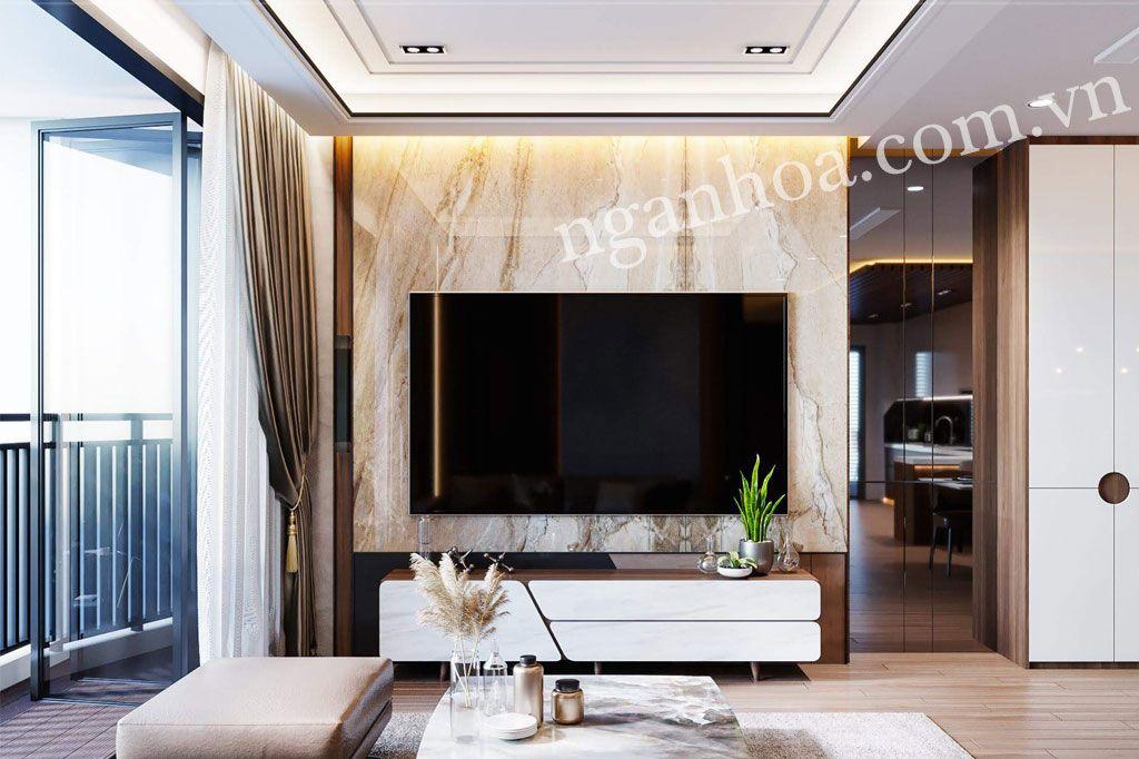 Tấm ốp tường vân đá - Phong cách nội thất hiện đại