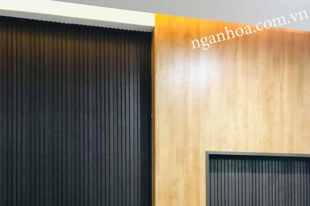 Ốp tường lam sóng gỗ