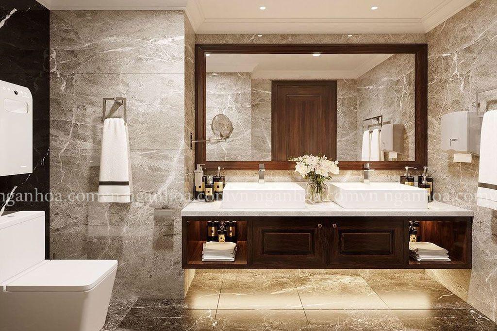 Tấm ốp tường vân đá dùng trong phòng tắm