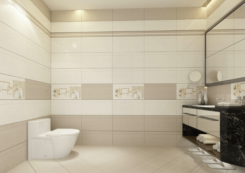 Nhà vệ sinh lát gạch ốp tường