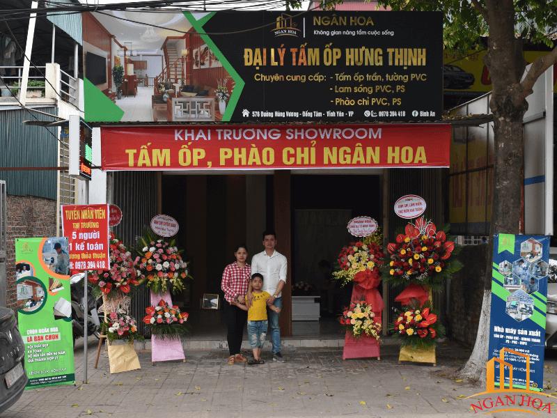 Đại lý phân phối của Ngân Hoa tại tỉnh Vĩnh Phúc