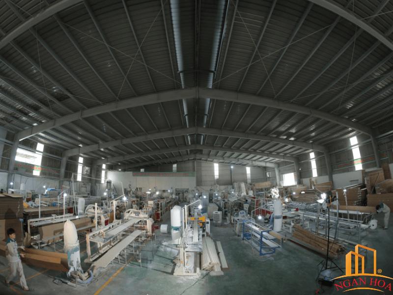 Quy mô xưởng sản xuất tấm ốp của Ngân Hoa