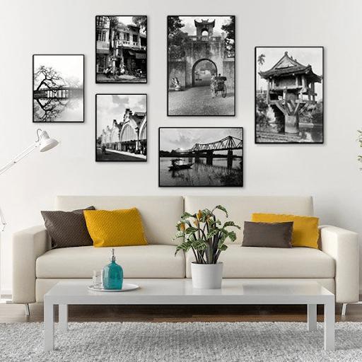 trang trí khung tranh trong nhà